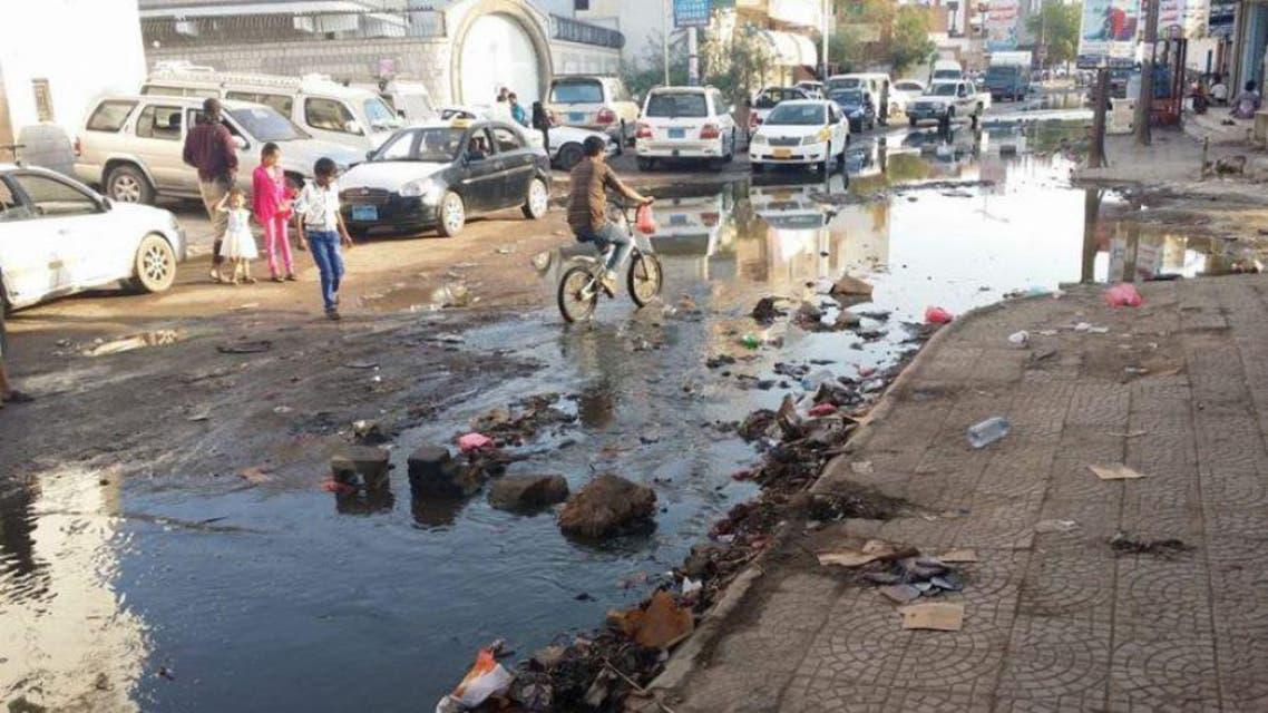 عدن نظافة كوليرا تلوث المياه اليمن