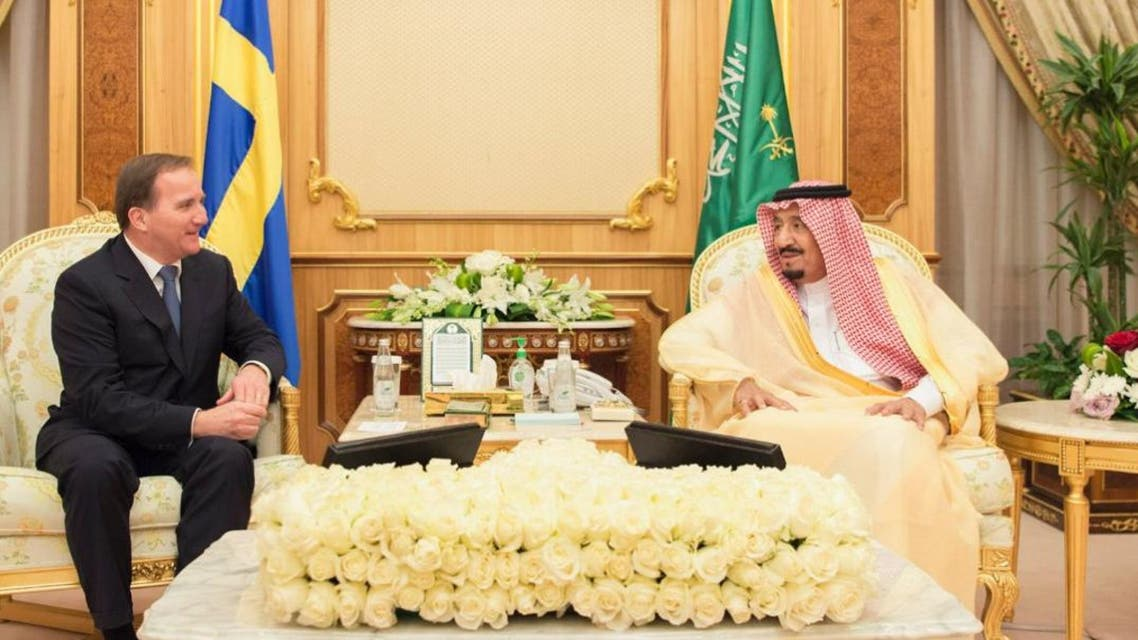 saudi king sweden prime spa