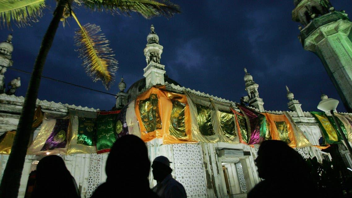 Muslims visit the 18th century shrine of Muslim Sufi saint Hazrath Haji Ali in Mumbai, India. (AP)