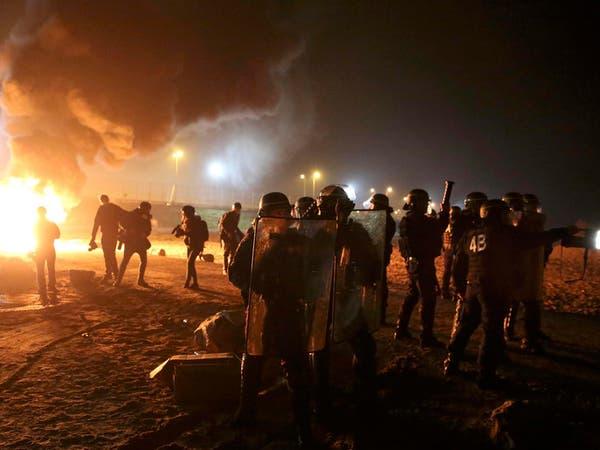 مواجهات متقطعة في محيط مخيم كاليه عشية بدء إزالته