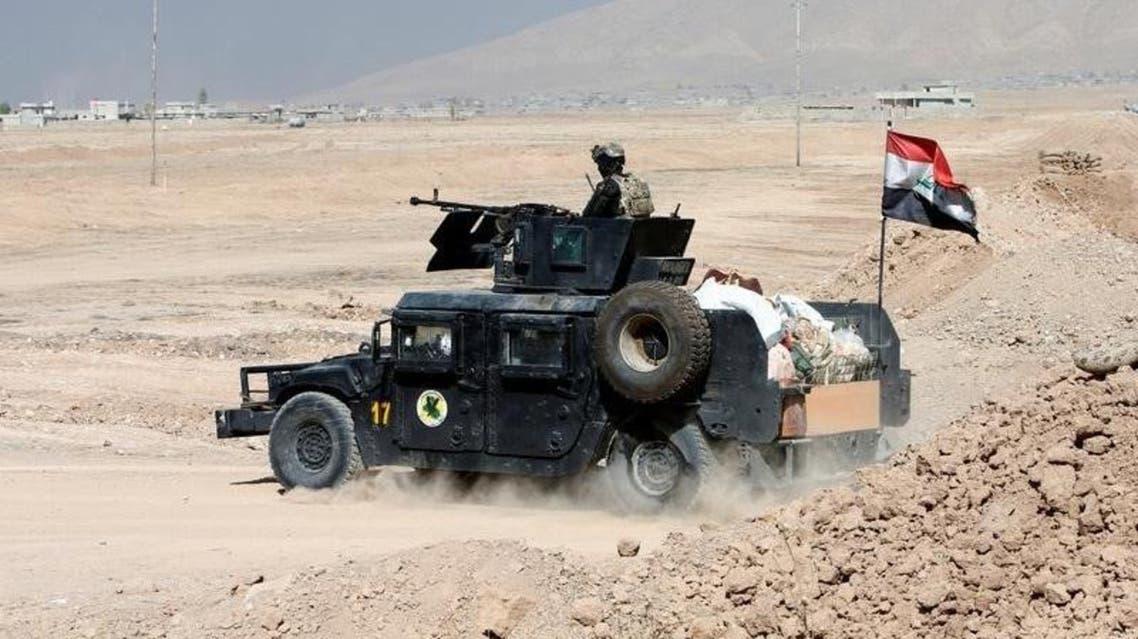 سيارة عسكرية للجيش العراقي شرق الموصل - رويترز