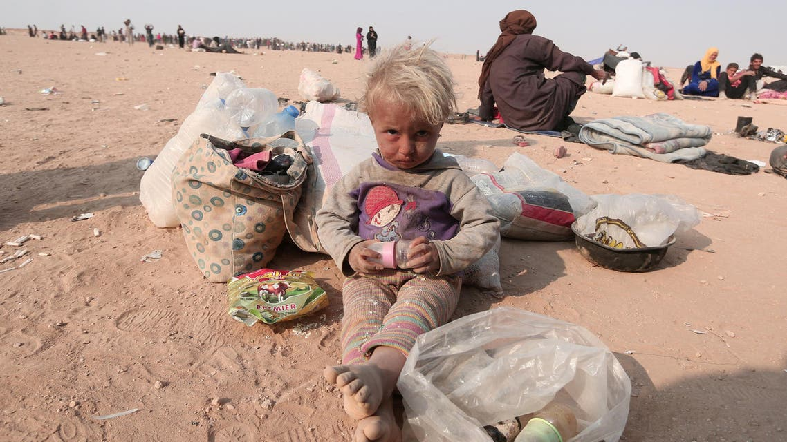 Displaced Iraqis people who fled Mosul