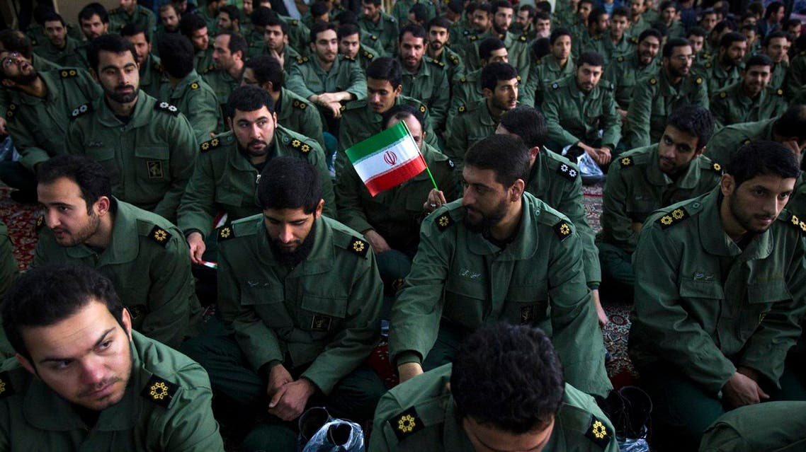 Members of the revolutionary guard attend the anniversary ceremony of Iran's Islamic Revolution. (File photo: Reuters)