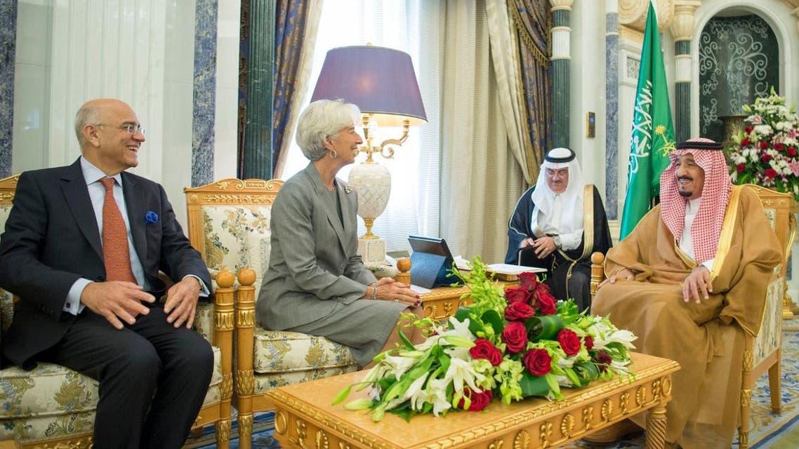 IMF Lagarde Saudi king SPA