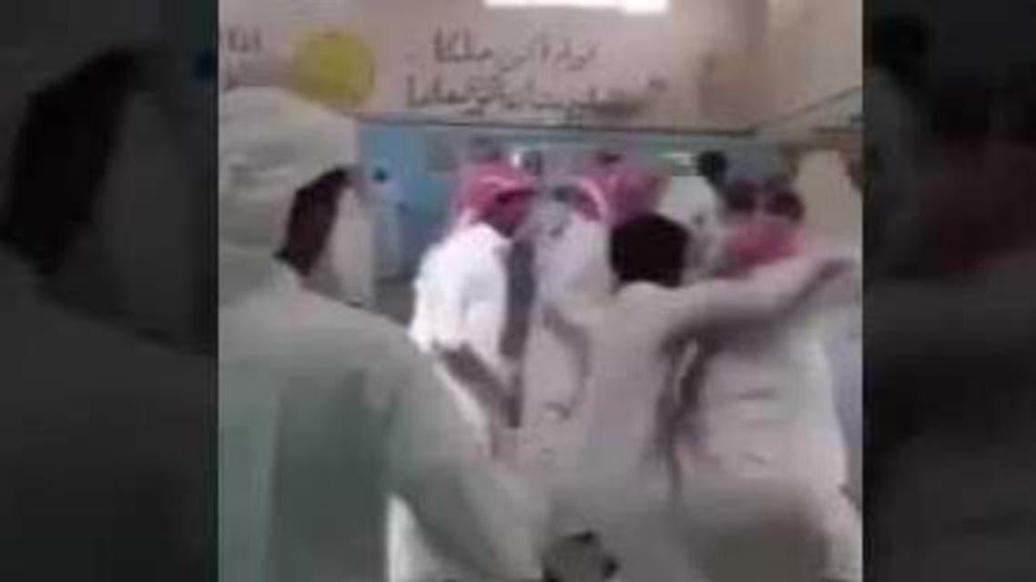 مشاجرة داخل صف في مدرسة سعودية