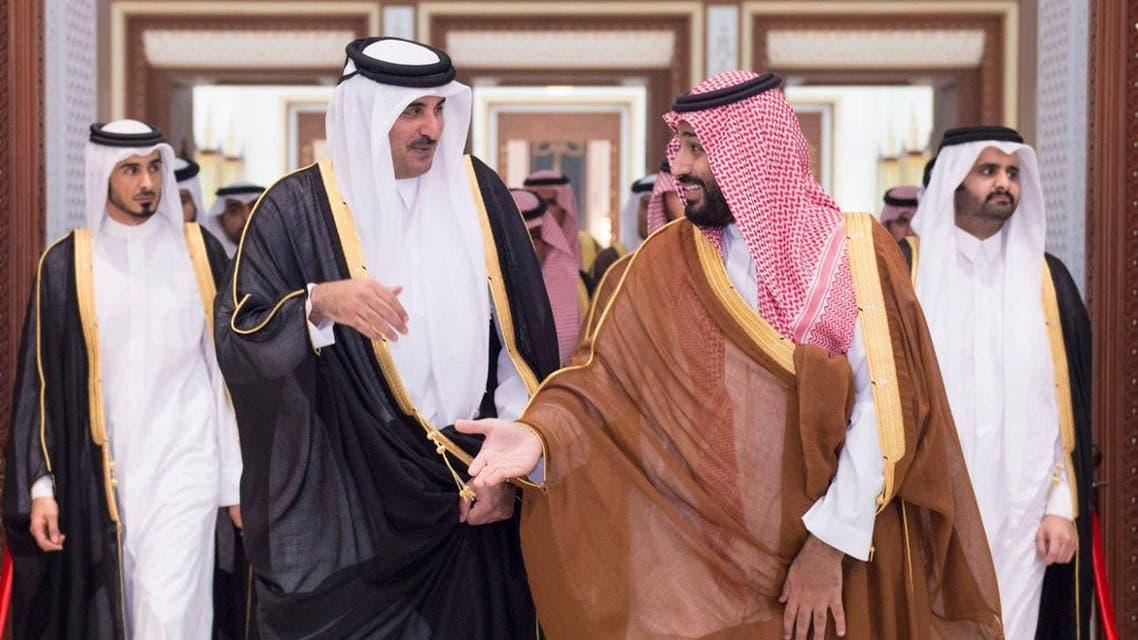محمد بن سلمان وأمير قطر