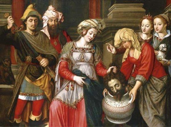 لوحة لرأس قورش يقدم إلى الملكة تهمريش السيكائية