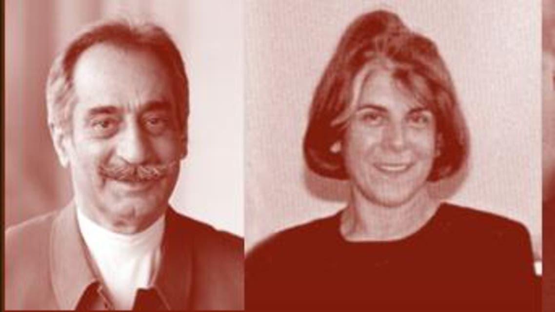 من اليسار: داريوش فروهر وزوجته بروانه اسكندري ومحمد مختاري وجعفر بويندة