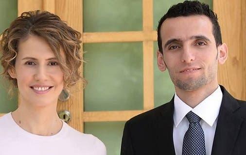 وسام الطير مع زوجة رئيس النظام السوري بشار الأسد