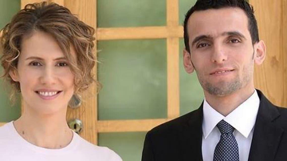 وسام الطير وزوجة رئيس النظام السوري بشار الأسد