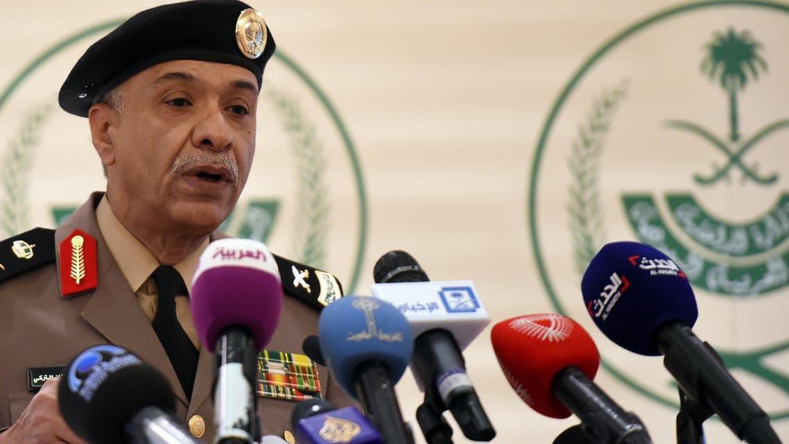 Saudi Interior ministry's spokesman Mansur al-Turki speaks during a press conference. (AFP)
