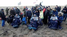 Multinational crew leave space station and head back to Earth