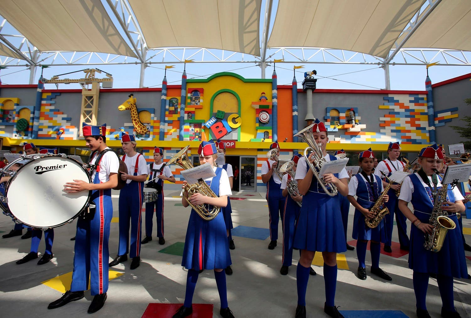 A band plays music during the opening of Legoland Dubai, part of the larger Dubai Parks & Resorts project, in Dubai, United Arab Emirates, Monday, Oct. 27, 2016 (Photo: AP/Kamran Jebreili)