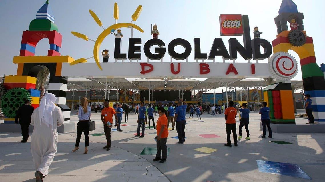People arrive for the opening of Legoland Dubai, part of the larger Dubai Parks & Resorts project, in Dubai, United Arab Emirates, Monday, Oct. 27, 2016 (Photo: AP/Kamran Jebreili)
