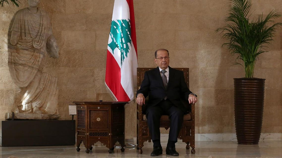 Lebanese president-elect Michel Aoun sits on the presidential chair at the presidential palace in Baabda east of Beirut on Oct. 31, 2016, after he was elected ending a political vacuum of more than two years (Photo: Patrick Baz/AFP)