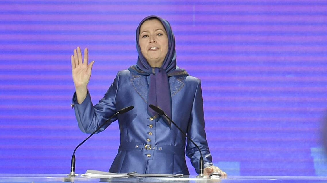 President of the National Council of Resistance of Iran (CNRI) Maryam Radjavi delivers a speech on June 13, 2015 during the CNRI annual meeting, in Villepinte. AFP PHOTO / ALAIN JOCARD