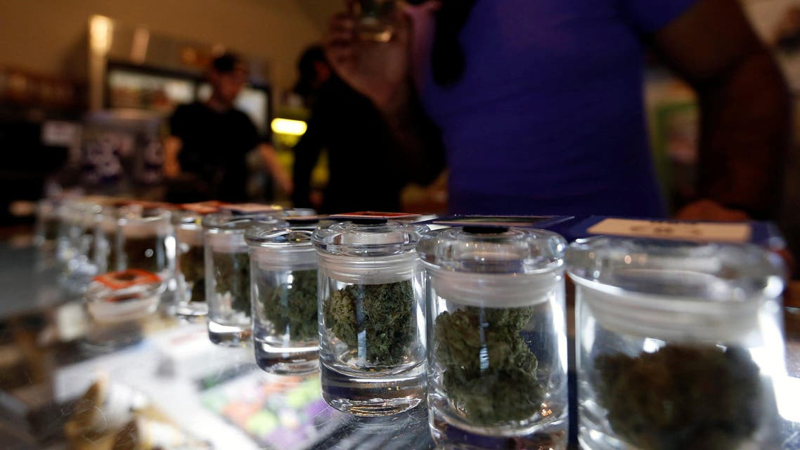 A variety of medicinal marijuana buds in jars are pictured at Los Angeles Patients & Caregivers Group dispensary in West Hollywood, California U.S., October 18, 2016. Picture taken October 18, 2016. REUTERS/Mario Anzuoni