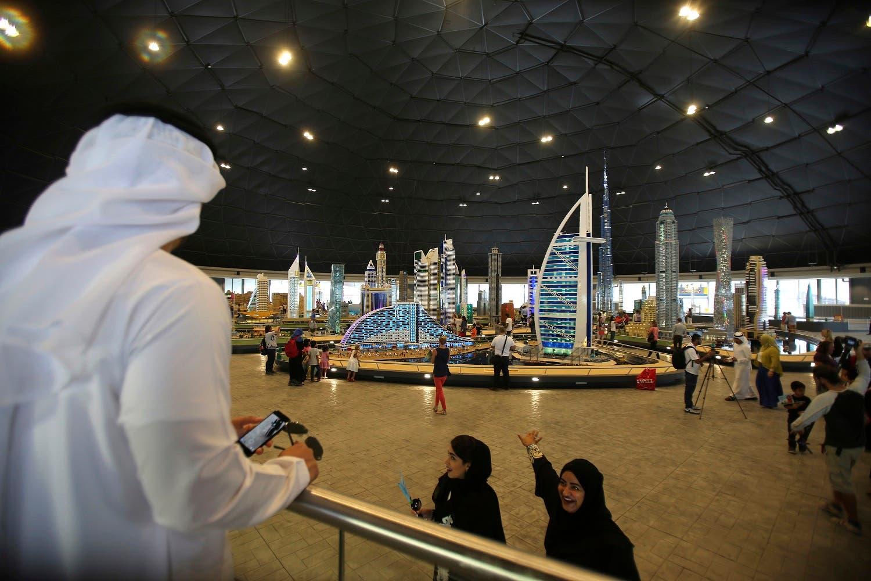 People visit Legoland Dubai, part of the larger Dubai Parks & Resorts project, in Dubai, United Arab Emirates, Monday, Oct. 27, 2016 (Photo: AP/Kamran Jebreili)