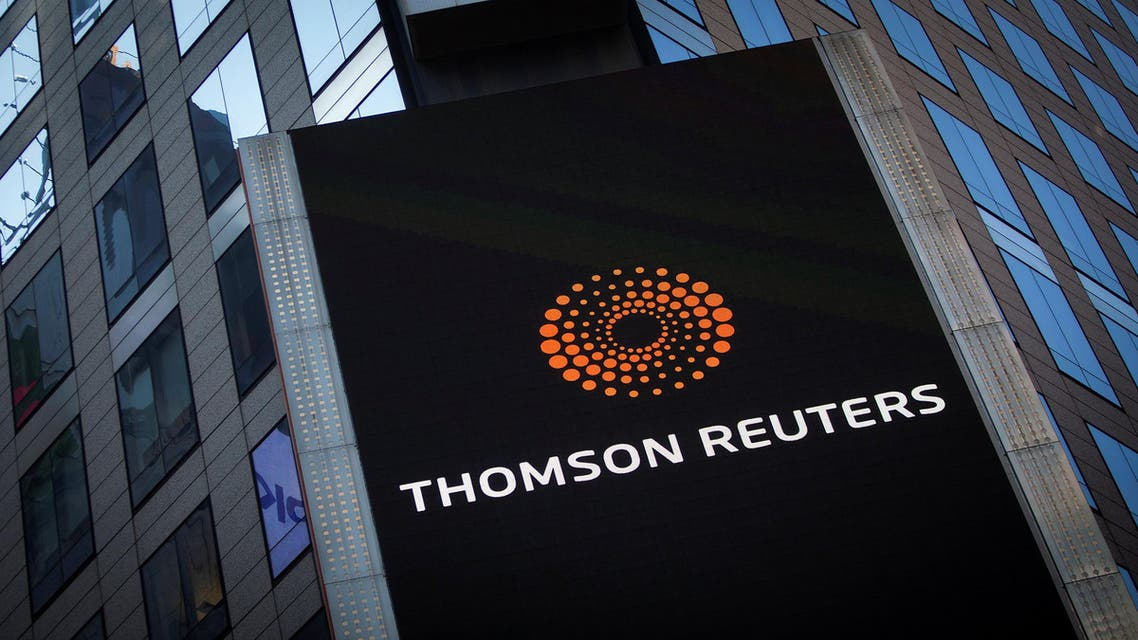The Thomson Reuters logo is seen on the company building in Times Square, New York October 29, 2013. REUTERS