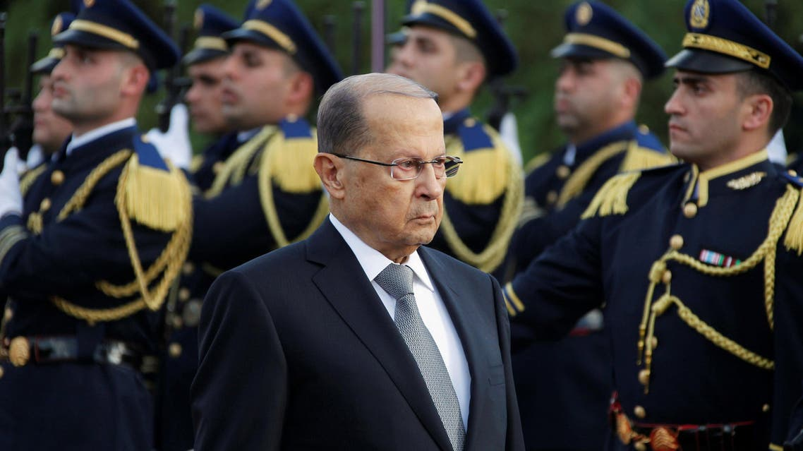Newly elected Lebanese President Michel Aoun reviews the honour guards upon arrival to the presidential palace in Baabda, near Beirut, Lebanon October 31, 2016. reuters