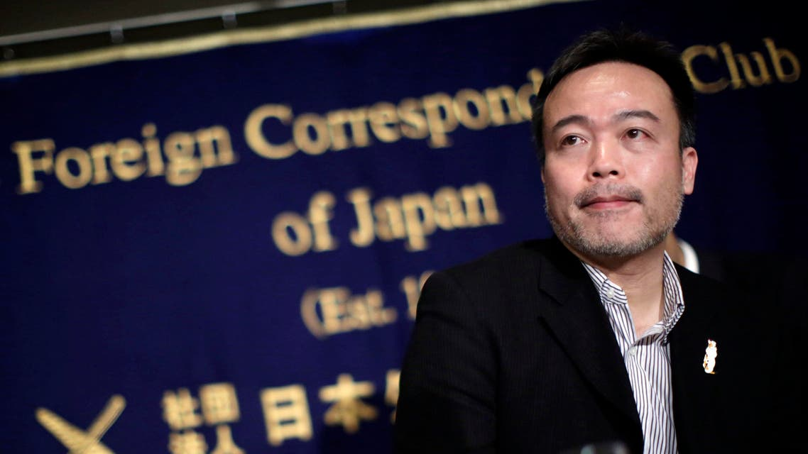 In this Jan. 22, 2015 file photo, Kosuke Tsuneoka, a Japanese freelance journalist, speaks about the two hostages held by the Islamic State group, at the Foreign Correspondents' Club of Japan in Tokyo. (Reuters)