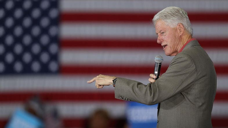 Hillary loses her cool after heckler calls Bill a 'rapist'