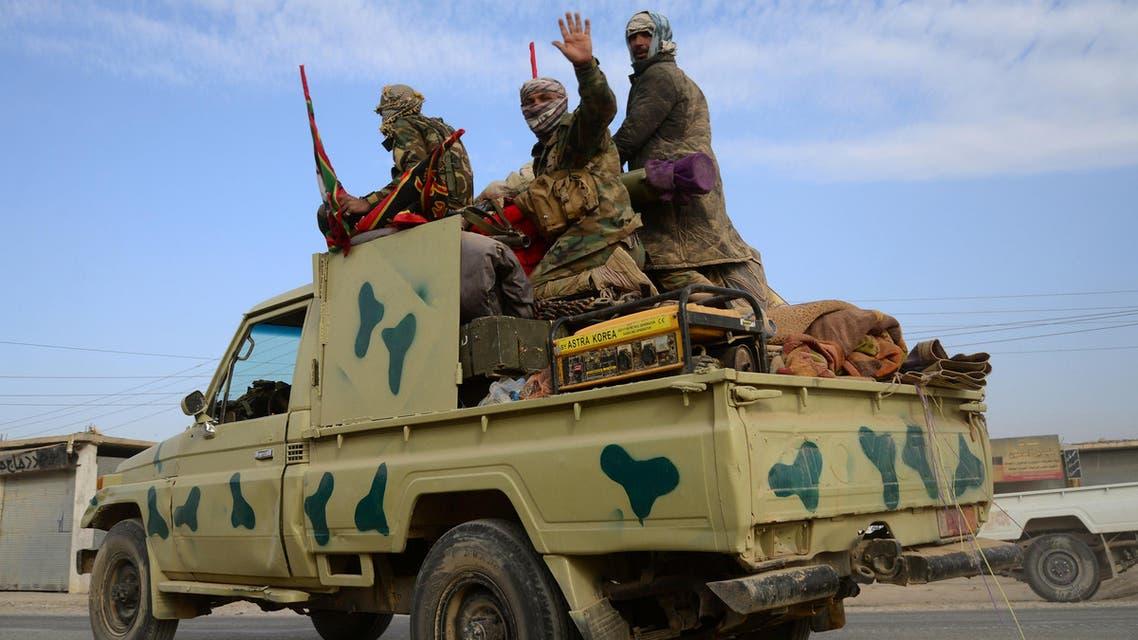 عناصر من الحشد الشعبي في الموصل العراق Popular Mobilization Forces take part in an operation against Islamic State militants on the outskirts of the town of Hammam Al-Alil, south of Mosul iraq irak