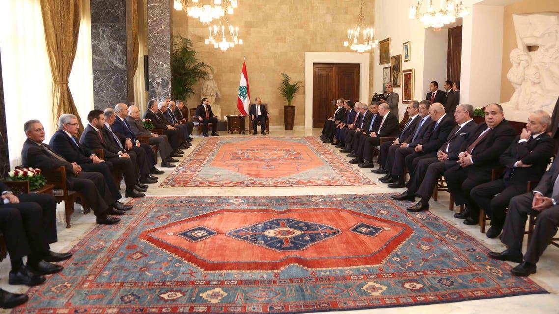 لبنان عون مشاورات نيابية
