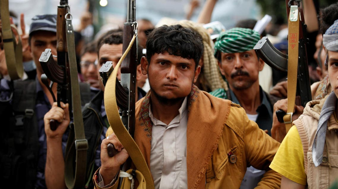 Supporters of the Houthi movement take part in a demonstration in Sanaa, Yemen July 28, 2016. reuters