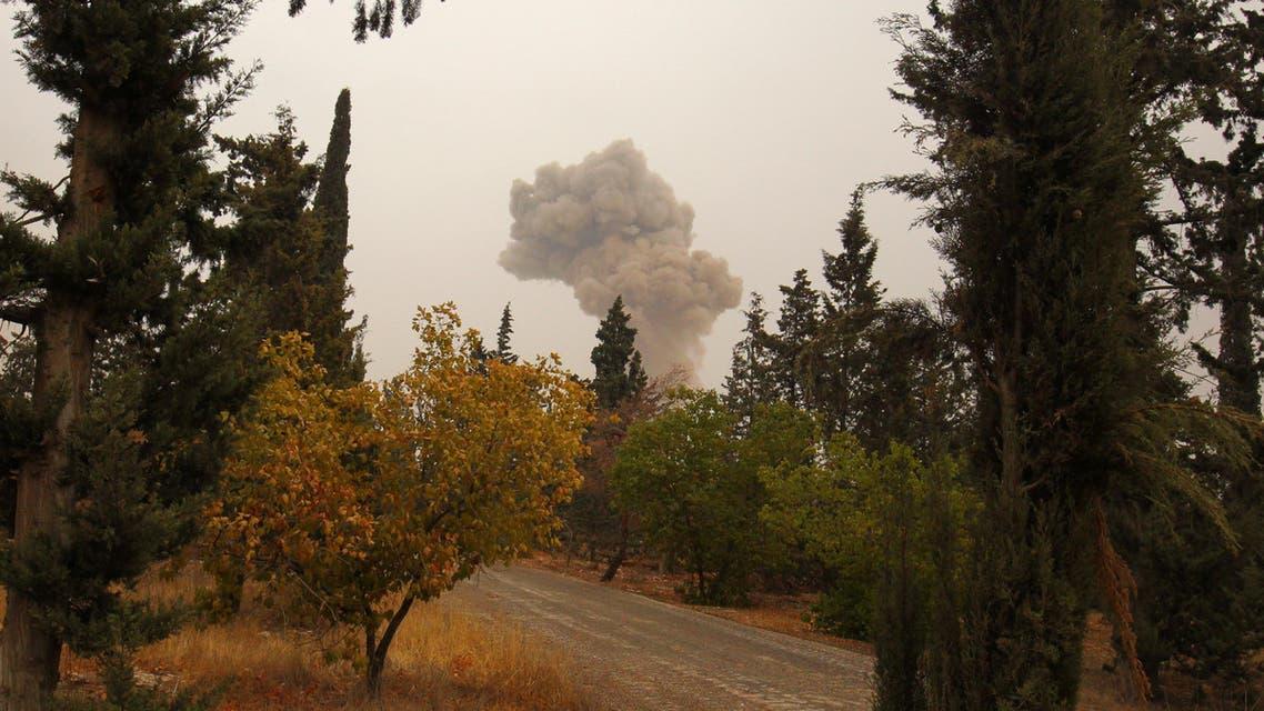 إحدى الغارات على حلب ALEPPO
