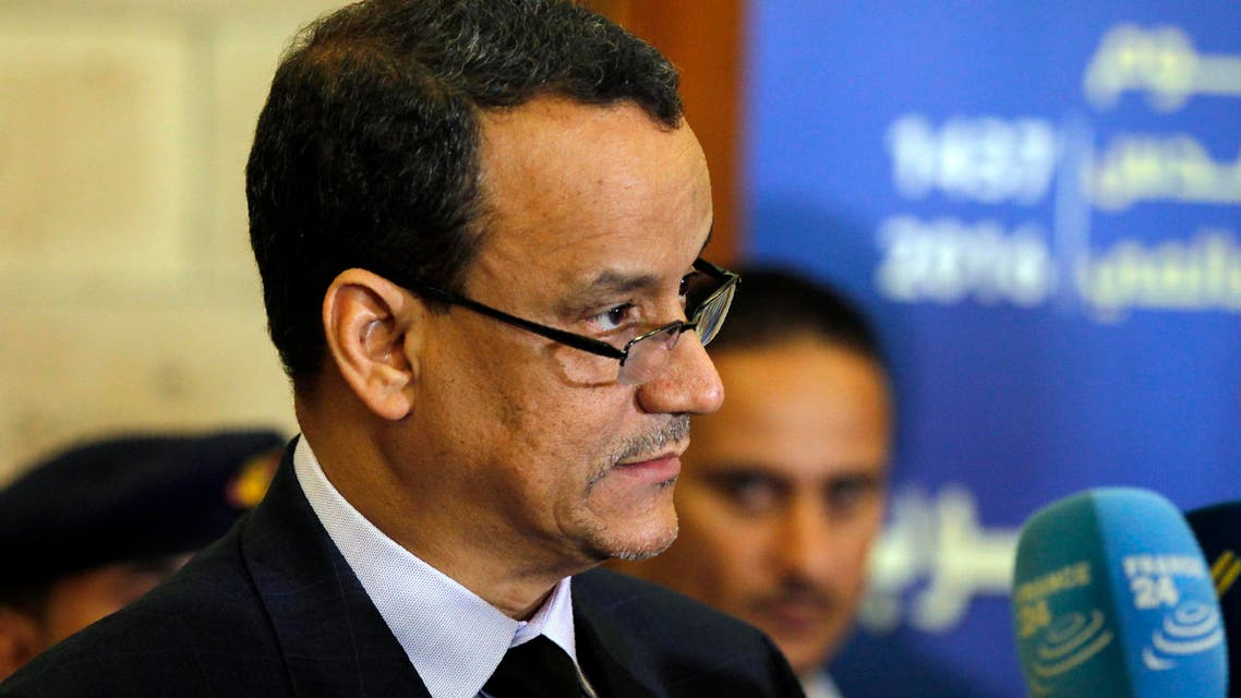 The United Nations Special Envoy to Yemen Ismail Ould Cheikh Ahmed speaks during a press conference ahead of his departure at Sanaa international airport on October 25, 2016. (File photo: AFP)