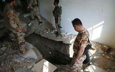 أنفاق داعش شرق الموصل