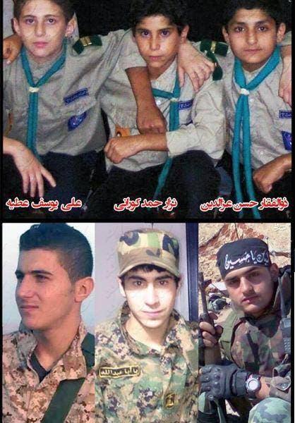 ثلاثة من كشافة المهدي التابعة لميليشات حزب الله اللبناني قتلوا في سوريا