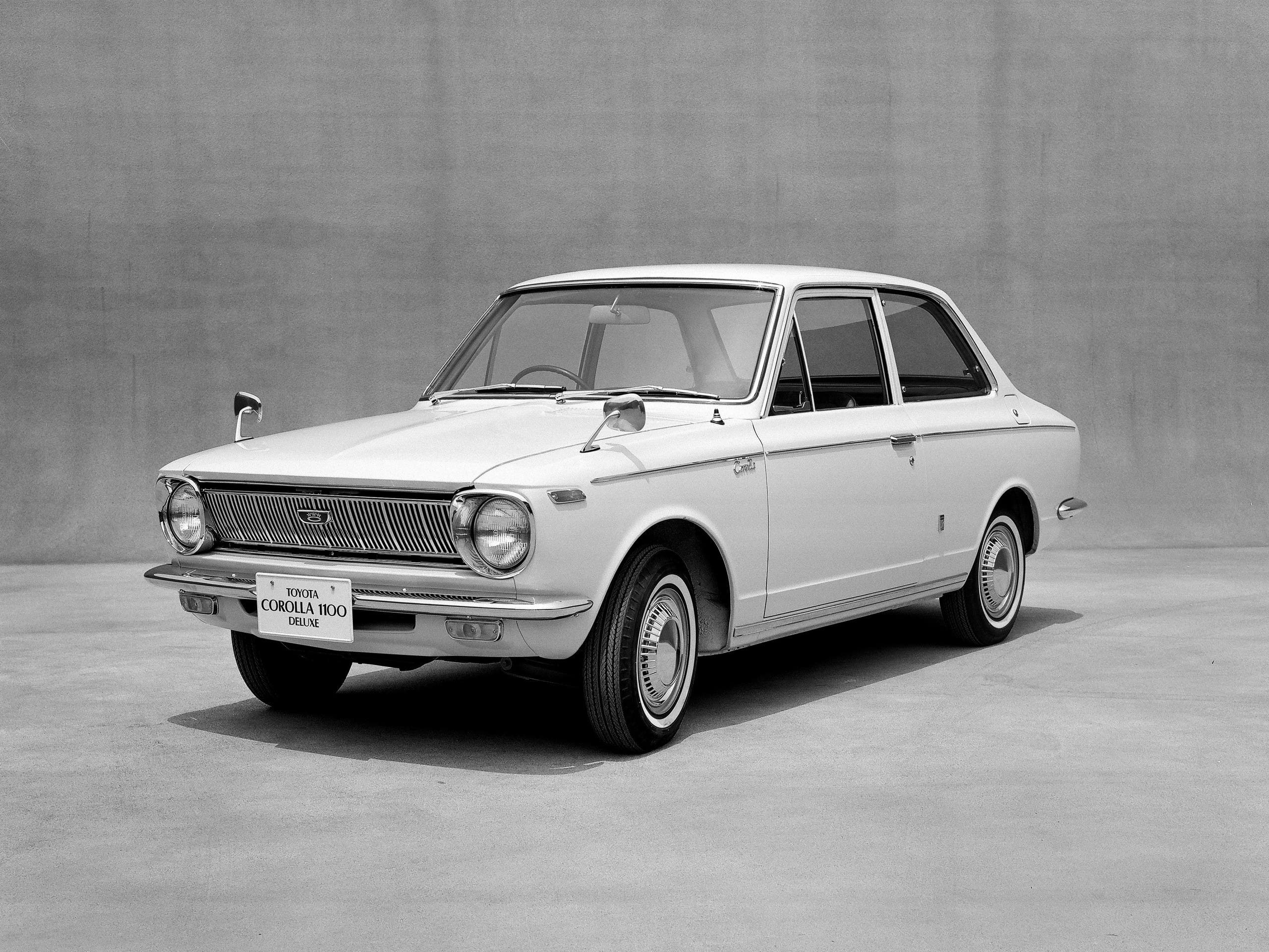 Toyota Motor Corp's first generation model of Corolla car is seen in this undated handout image and released by Toyota Motor Corporation, obtained by Reuters on November 4, 2016.