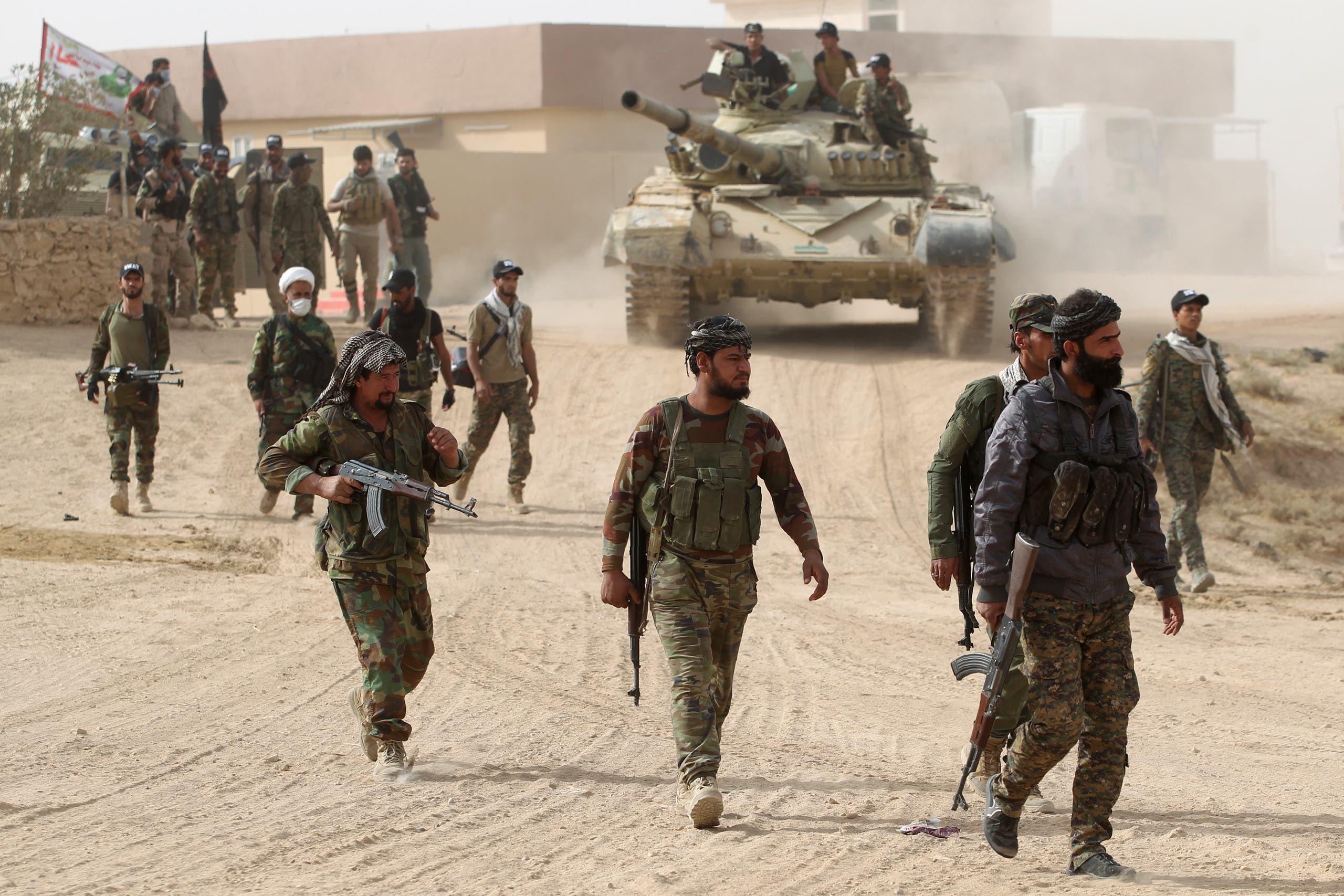 عناصر من ميليشيات الحشد الشعبي في الموصل