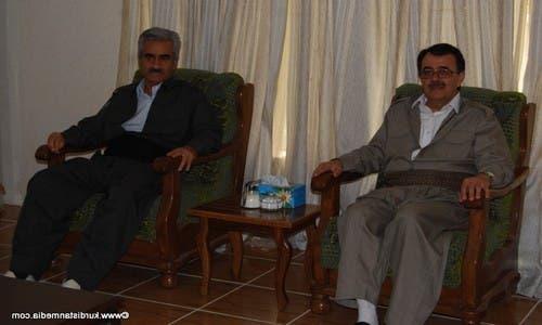 زعيم حزب كومله الكردي على اليمن وزعيم الحزب الديمقراطي الكردستاني الإيراني مصطفى هجري