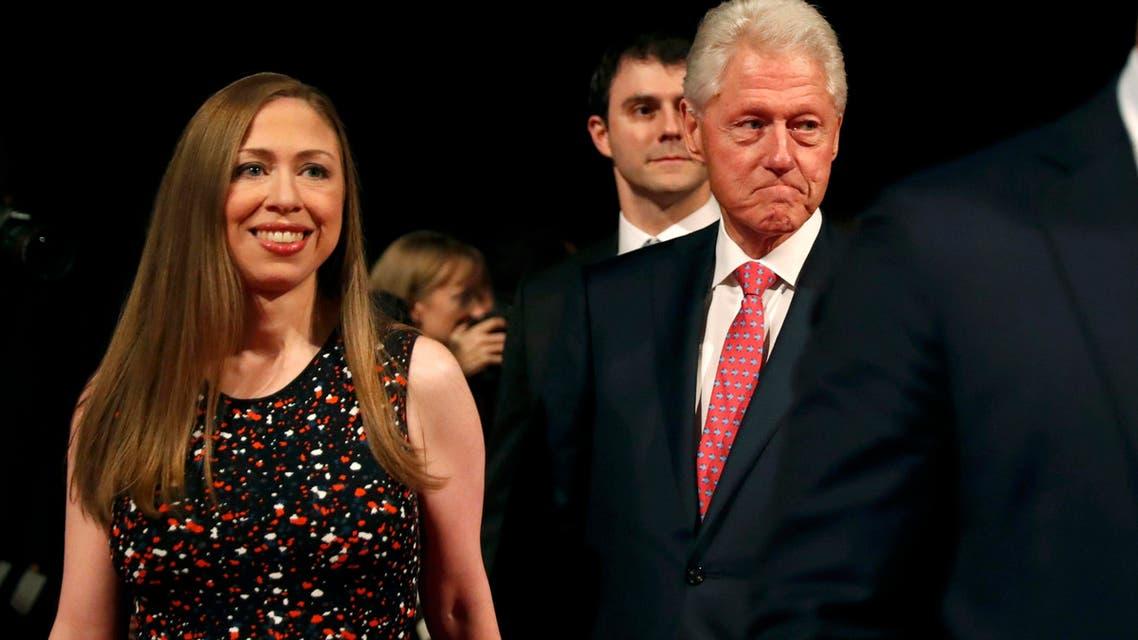 بيل كلينتون مع ابنته تشيلسي