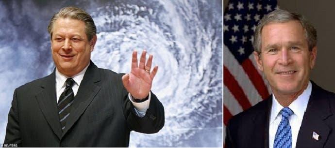 بوش أصبح رئيسا، مع أن الأميركيين رفضوه واختاروا آل غور للمنصب الأهم