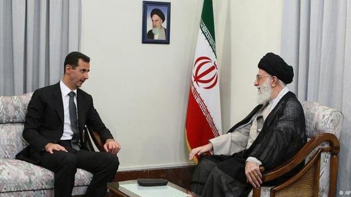 شامی صدر بشار الاسد اور ایرانی سپریم لیڈر علی خامنہ ای