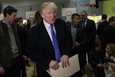 ترامپ پای صندوق رای