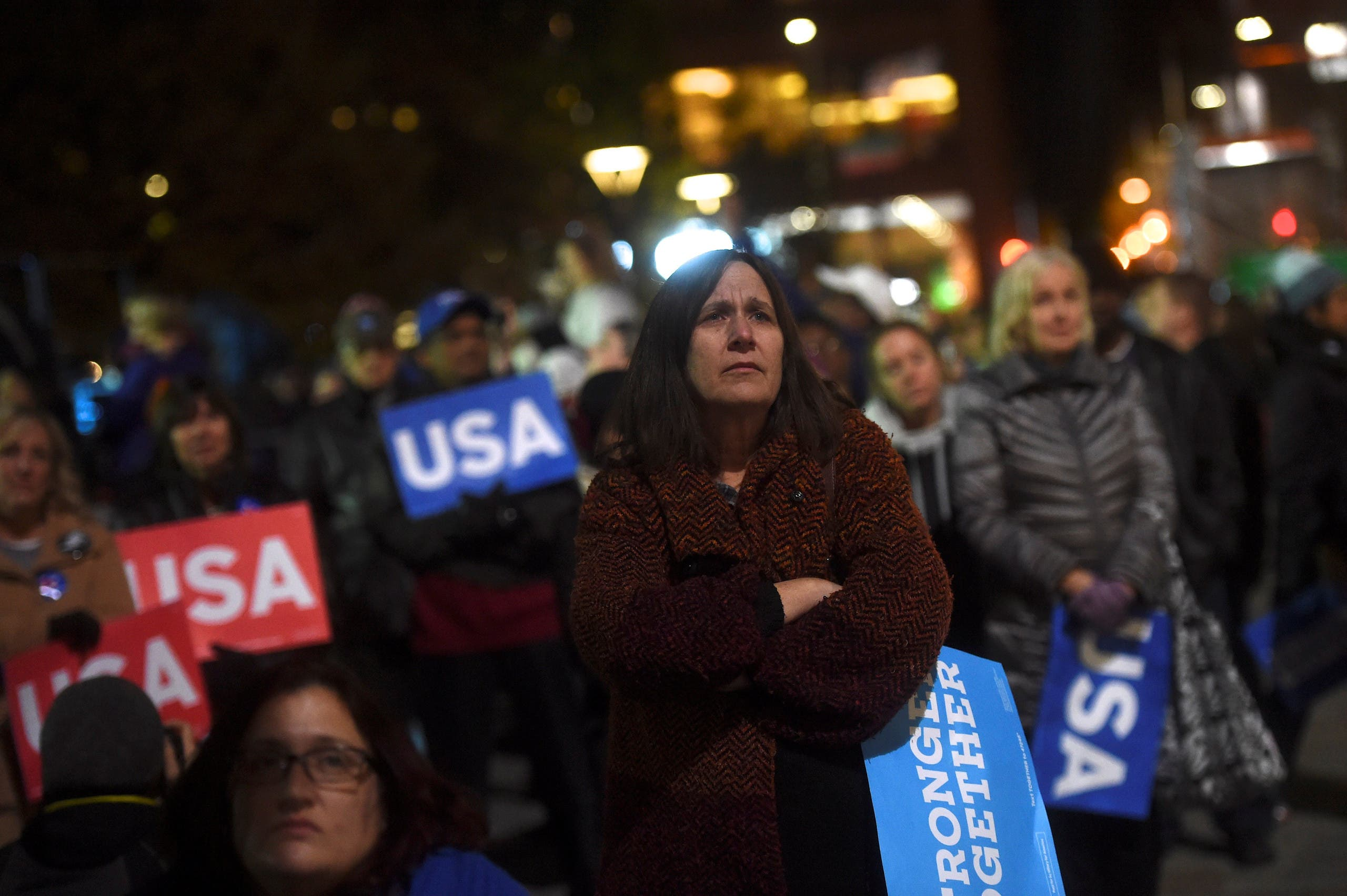 US elections Hillary Clinton supporters listen to the U.S. Democratic presidential candidate during her final rally at Independence Hall on the eve of election day in Philadelphia, Pennsylvania November 7, 2016. (Reuters)