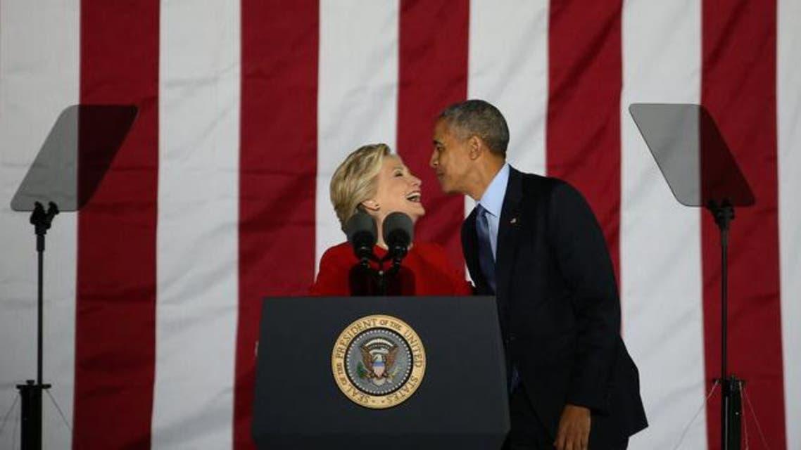 هيلاري مع الداعم الأول أوباما