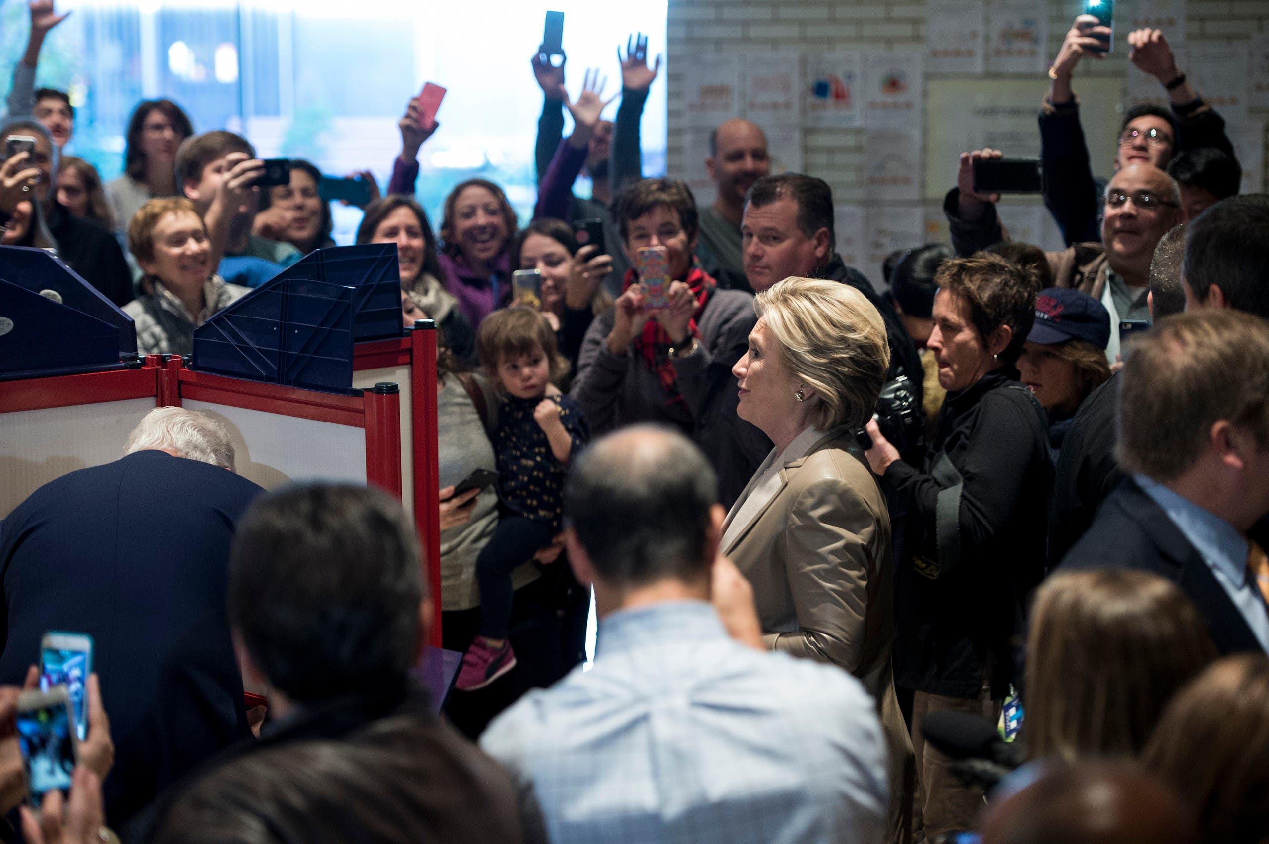 هیلاری کلینتون پس از رای دادن