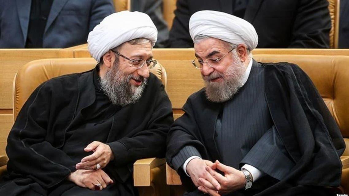 روحاني و لاريجاني