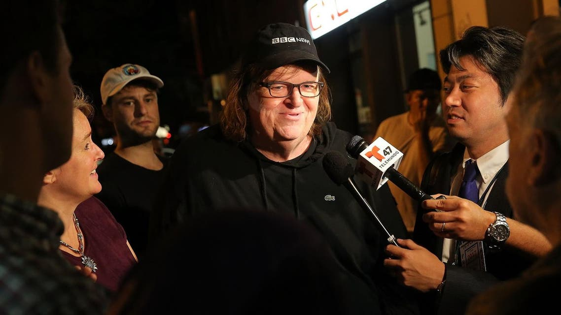 Hollywood director Michael Moore predicted a Donald Trump US election win in July, months before the vote. (File photo: AFP)