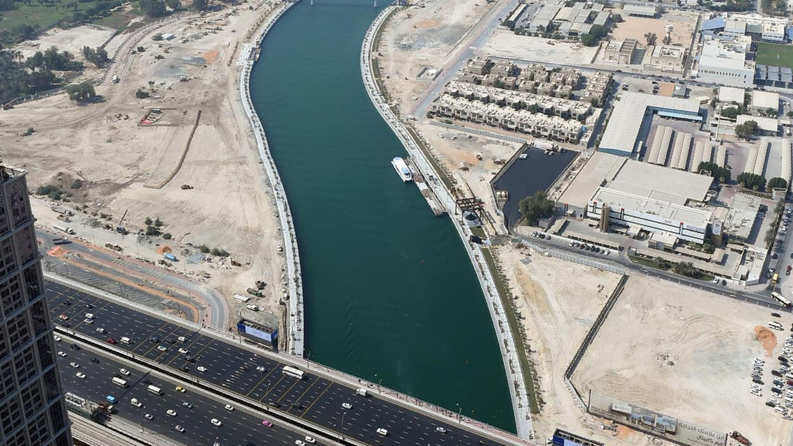 Dubai Canal. AFP PHOTO  MEDIA OFFICE OF SHEIKH MOHAMMED BIN RASHID AL-MAKTOUM