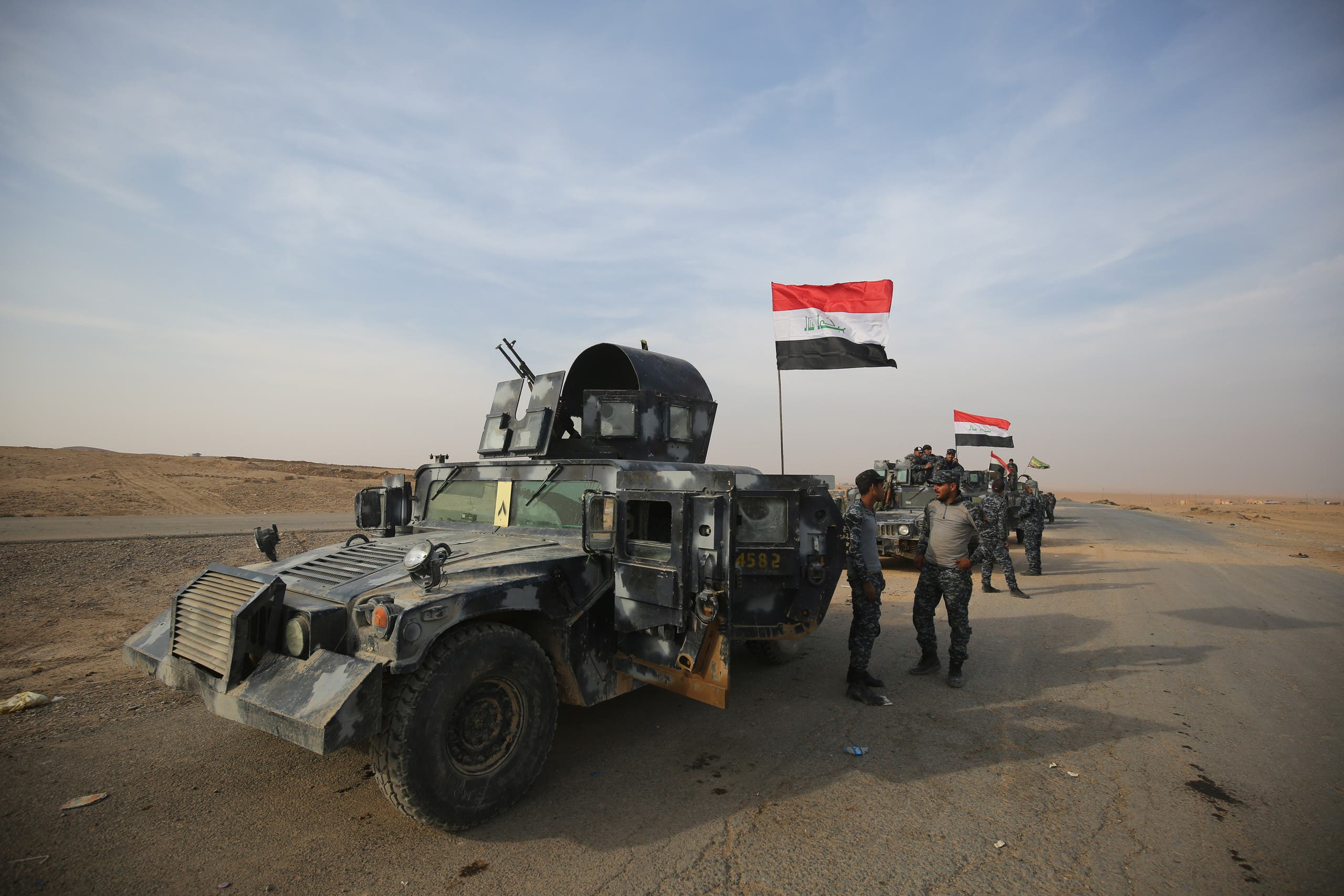 القوات العراقية جنوب الموصل