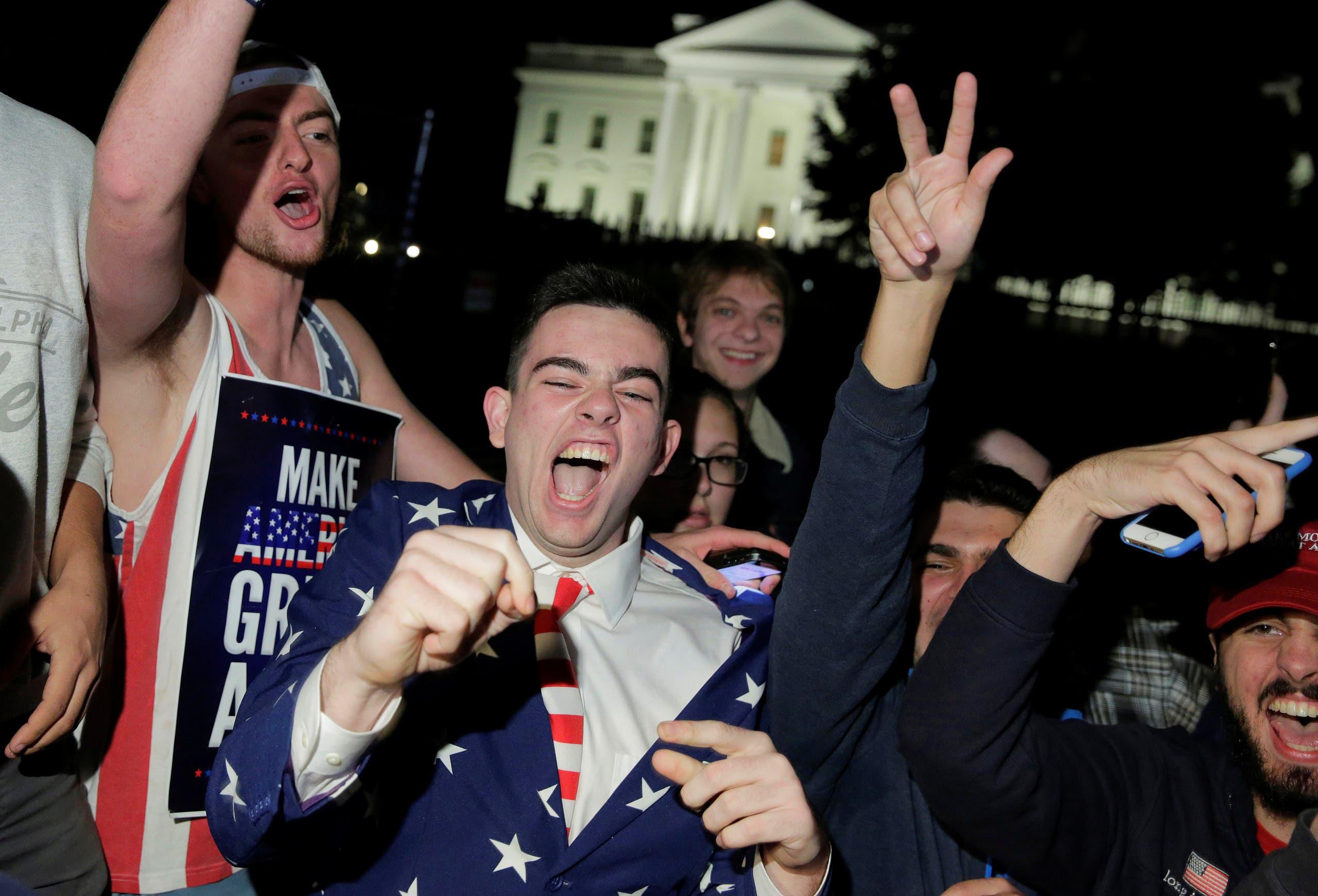 مناصرون لترمب أمام البيت الأبيض