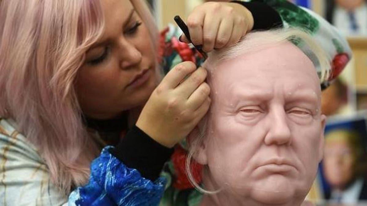 أشهر متحف للشمع يصنع تمثالاً لترمب شعره أغرب ما فيه
