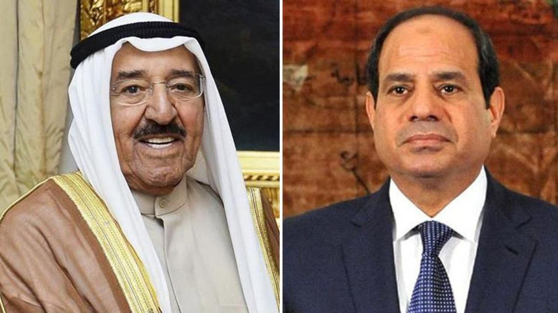 Emir of kuwait and Sisi